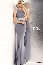 Glitter Embellished Waist High Neck Dress JVN62495 - Marleighz