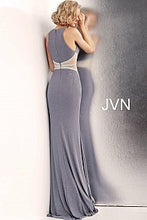 Load image into Gallery viewer, Glitter Embellished Waist High Neck Dress JVN62495 - Marleighz