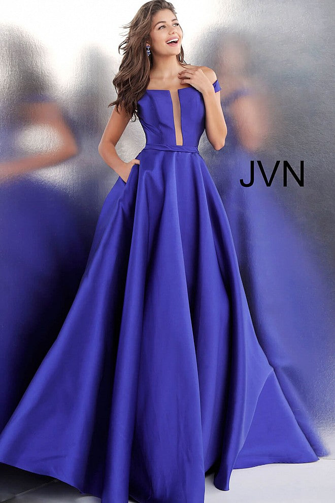 Purple off the Shoulder Bridesmaid dress JVN62743 - Marleighz