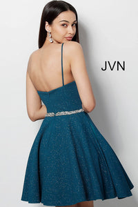 Peacock Fit and Flare Sweetheart Neckline Homecoming Dress JVN62917 - Marleighz