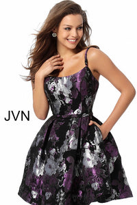 Multi Color Fit and Flare Homecoming Dress JVN63386 - Marleighz
