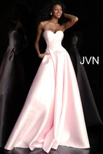Load image into Gallery viewer, Pink Pleated Skirt Strapless Prom Ballgown JVN65433 - Marleighz