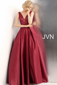 Side Cut Outs Pleated Skirt V Back Prom Ballgown JVN65483 - Marleighz