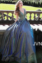 Load image into Gallery viewer, Green and Blue A line Bridesmaid Dress JVN65851 - Marleighz
