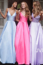 Load image into Gallery viewer, Spaghetti Strap Satin A-Line Bridesmaid Dress JVN66673 - Marleighz