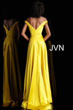 Load image into Gallery viewer, Yellow Off the Shoulder High Slit Prom Dress JVN67752 - Marleighz