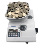 Ribao CS-2000 Heavy Duty High Speed Coin Counter with Hopper Extender