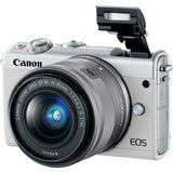 EOS M100 Mirrorless Digital Camera with 15-45mm Lens (White)