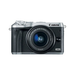 EOS M6 Mirrorless Digital Camera with 15-45mm Lens (Silver)