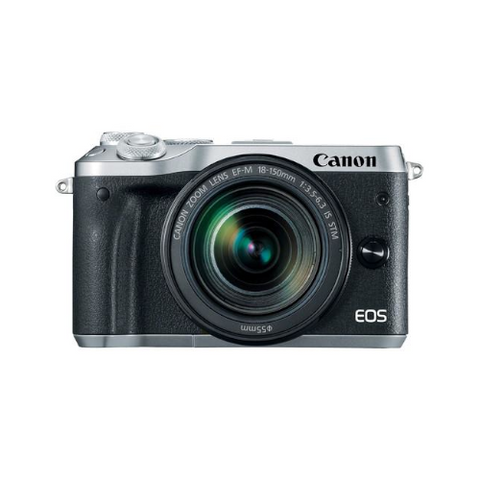 EOS M6 Mirrorless Digital Camera with 18-150mm Lens (Silver)