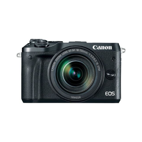 EOS M6 Mirrorless Digital Camera with 18-150mm Lens (Black)