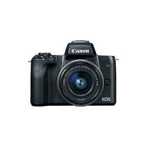 EOS M50 Mirrorless Digital Camera with 15-45mm Lens (Black)