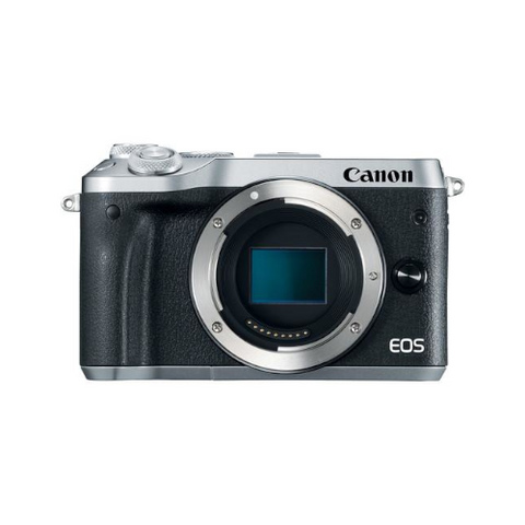 EOS M6 Mirrorless Digital Camera (Body Only, Silver)