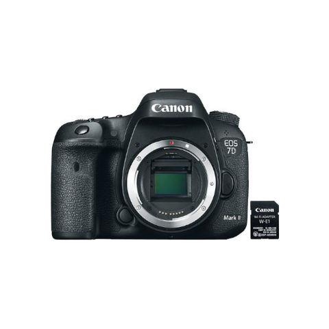 EOS 7D Mark II DSLR Camera Body with W-E1 Wi-Fi Adapter