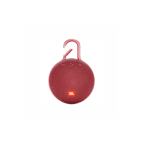 JBL Clip 3 Portable Bluetooth Speaker (Fiesta Red)