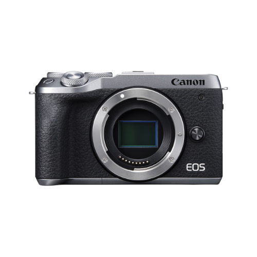 Canon EOS M6 Mark II Mirrorless Digital Camera (Silver, Body Only)