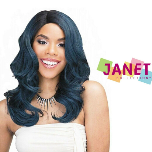 JANET 100%BRAZILIAN HUMAN BLEND HAIR LACE FRONT WIG LUDIAN