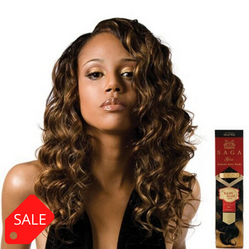 SAGA GOLD 100% HUMAN HAIR FINGER ROLL REMY 14