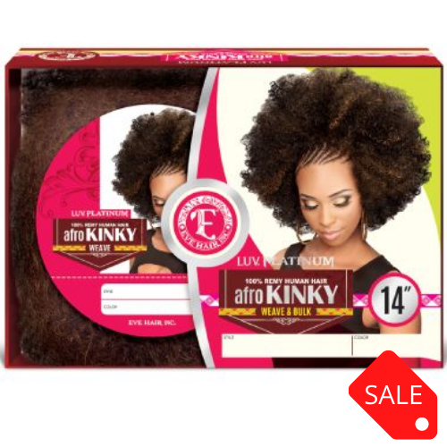 EVE AFRO KINKY WEAVE 100% REMY HUMAN HAIR