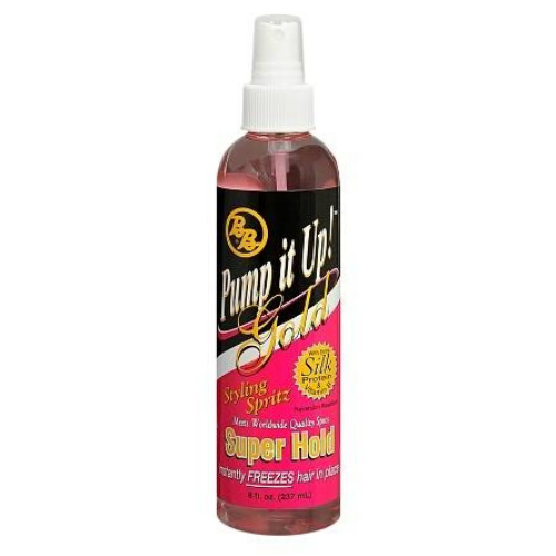 B&B PUMP IT UP GOLD SUPER HOLD STYLING SPRITZ 8OZ
