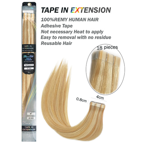 LIVE N CLIP 100% REMY HUMAN HAIR TAPE IN EXTENSION 18