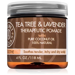 Qhemet Bilolgics Tea Tree & Lavender Therapeutic Pomade with Pure Coconut Oil 100% Natural 4oz