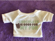Chocolate Good for My Fur Plushie Tshirt (Hoodie Available)