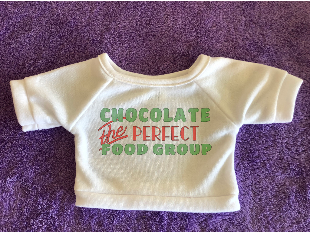 Chocolate Perfect Food Group Plushie Tshirt (Hoodie Available)