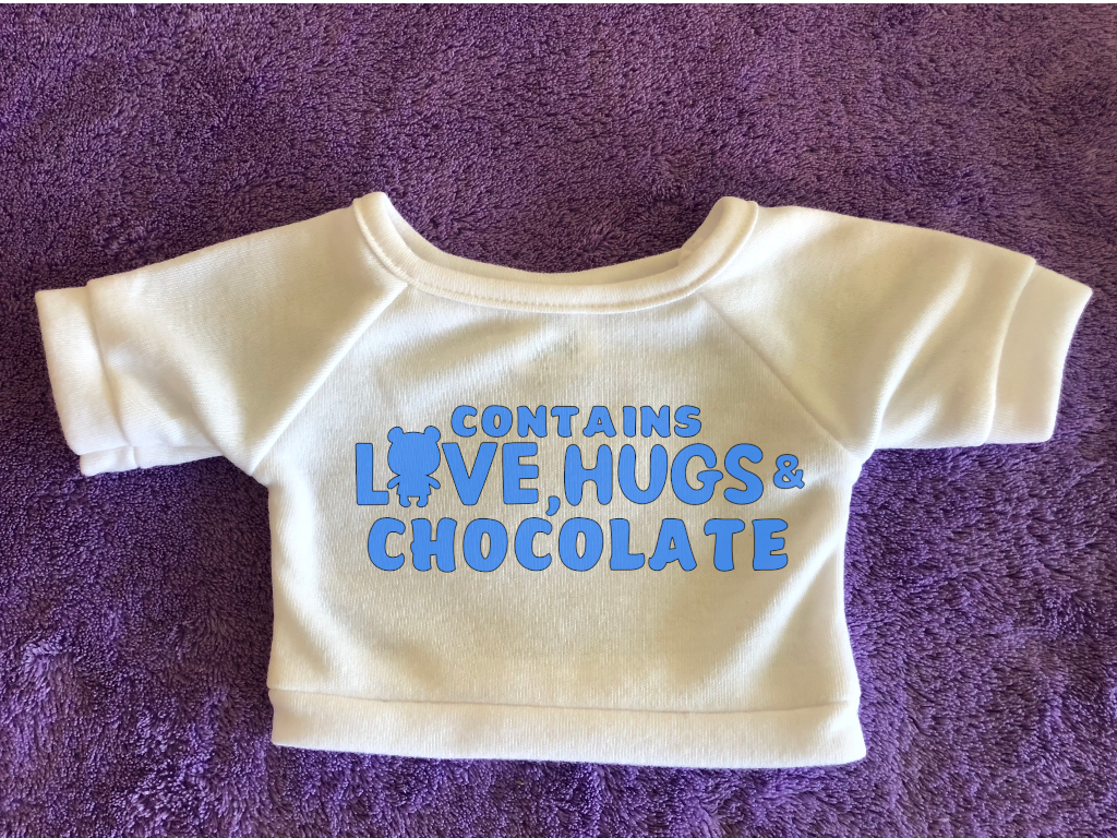 Love, Hugs & Chocolate Plushie Tshirt (Hoodie Available)