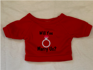 Will You Marry Us Plushie Tshirt (Hoodie Available)