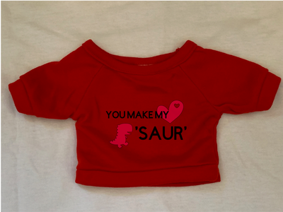 You Make My Heart Saur Plushie Tshirt (Hoodie Available)