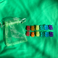 Froggie Custom Plushie Size Rainbow Gummy Bears, Fake Food