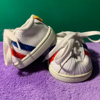 Tennis Shoes Red & Blue Stripes - Build-a-Bear Resale