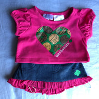 Girl Scout Outfit (Denim Skirt / Pink Shirt)  - Build-a-Bear Resale