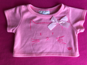 Pink Tshirt Kitty Cat Design - Build-a-Bear Resale