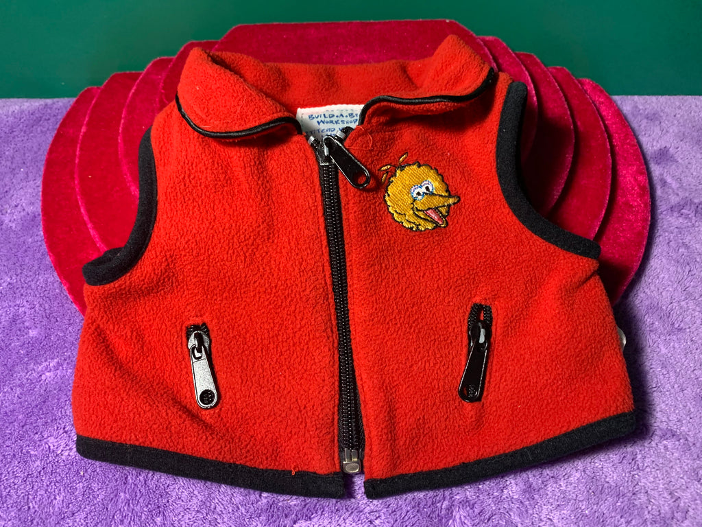 Big Bird Zippered Vest, Build-a-Bear Resale