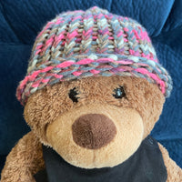 Pawmade Knitted Cap, Gray Multi-Colored