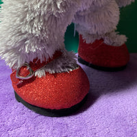 "Red Glittery Shoes with Heart ""Clasp"" - Build-a-Bear Resale"