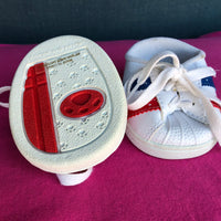White Sneakers Red & Blue Stripe - Build-a-Bear Resale