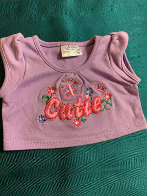 Cutie Shirt with Embellishments - Build-a-Bear Resale
