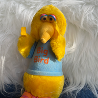 Big Bird, Vintage Hasbro Softies, Adoptable