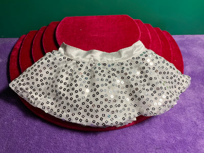 White and Silver Sequin Skirt - Build-a-Bear Resale
