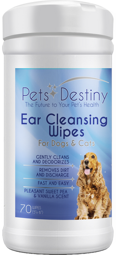Ear Cleansing Wipes for Dog and Cats