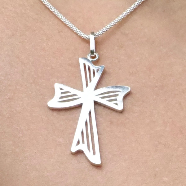 "NEW! ""20th Anniversary"" HARPS CROSS NECKLACE"