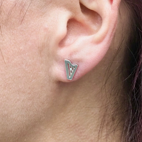 "NEW! ""20th Anniversary"" CLASSIC MINI-HARP stud earrings"
