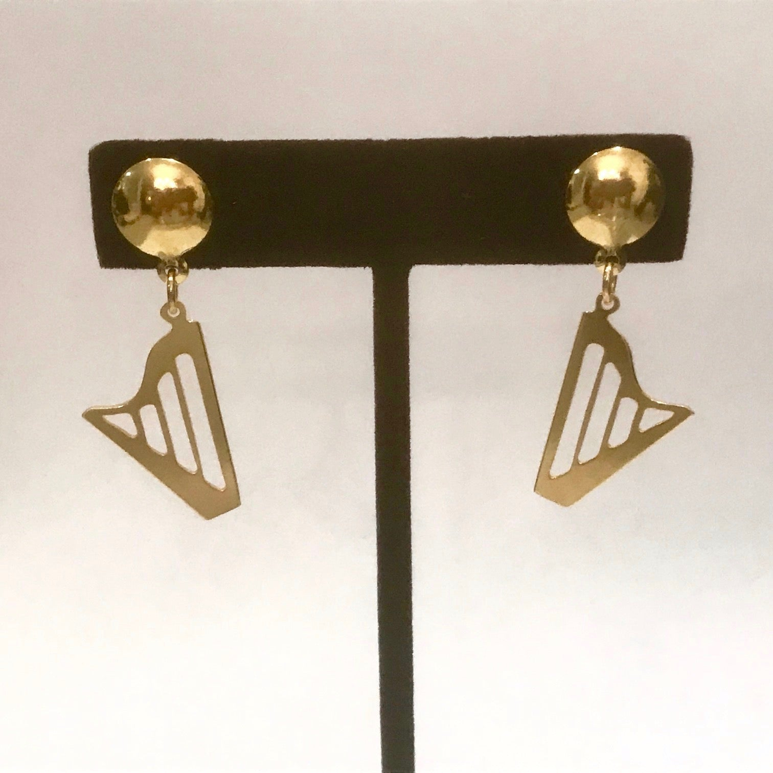 GOLDEN CLASSIC HARP stud earrings