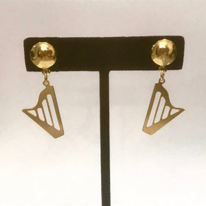 GOLDEN CLASSIC HARP EARRINGS