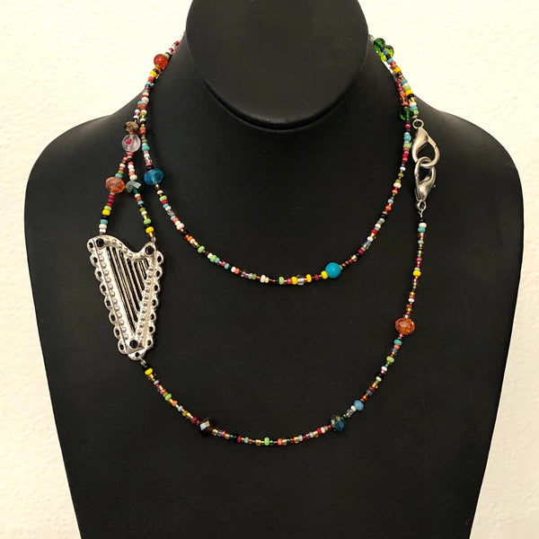 MULTICOLOR LANYARD-Necklace-Mask holder and more