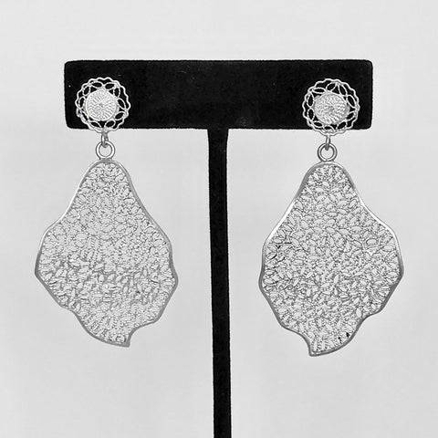 Lace-filigree earrings ($50 off)