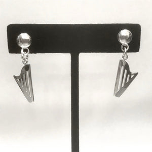 SMALL STERLING SILVER CLASSIC HARP EARRINGS